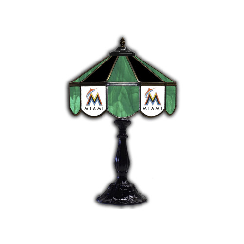 Miami Marlins Glass Table Lamp