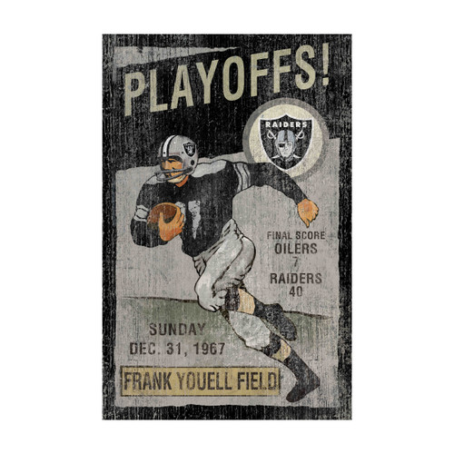 Oakland Raiders Vintage Wall Art