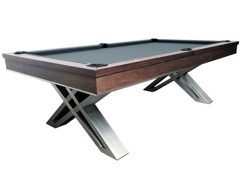 Pierce 8 Foot Pool Table Walnut Finish
