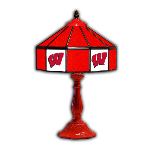 University of Wisconsin Glass Table Lamp