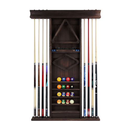 Imperial Deluxe Wall Cue Rack, Weathered Dark Chestnut