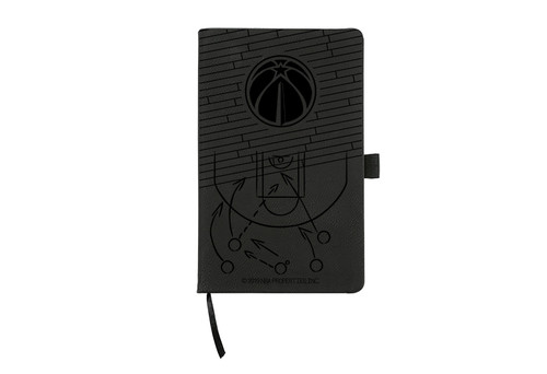 Wizards Laser Engraved Black Notepad With Elastic Band
