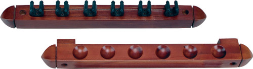 Action 6 Cue Wall Rack with Clips