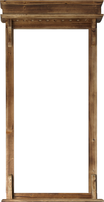 Action 10 Cue Rustic Wall Rack