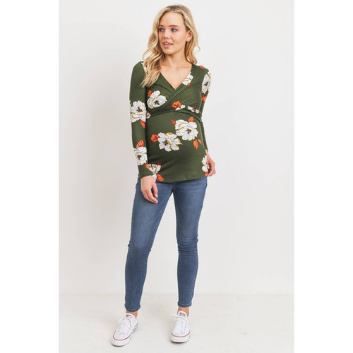 Floral Back Tie Maternity and Nursing top