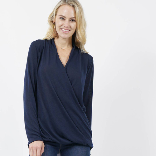 Surplice Hi-low Hacci Top