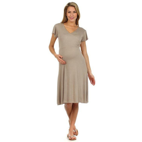 Angelina Crossover Nursing Dress