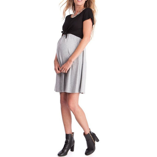 Fashion Tie Maternity and Nursing Dress