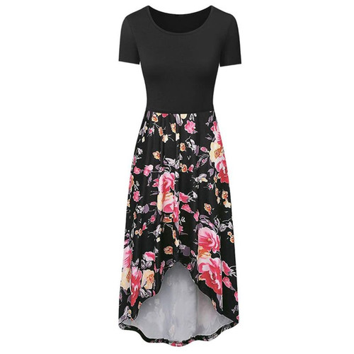 Floral Block Maternity Nursing Dress