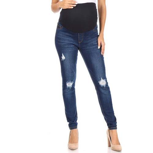 Distressed Maternity Jeggings