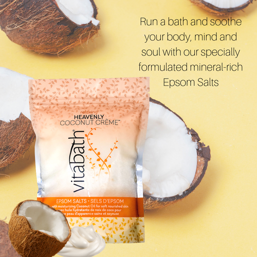Heavenly Coconut Crème™ Epsom Salts 36 oz/1 Kg