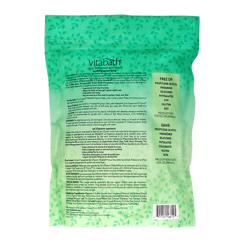 Cool Spearmint & Thyme™ Epsom Salts 36 oz/1 Kg