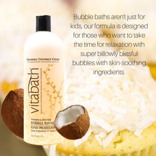 Heavenly Coconut Crème™ Bubble Bath 33.8 fl oz/1L