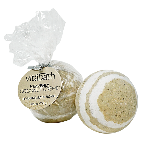 Heavenly Coconut Crème™ Hand- Wrapped Foaming Bath Bomb 5.29 oz/150 g