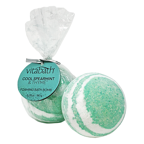 Cool Spearmint & Thyme™ Hand- Wrapped Foaming Bath Bomb 5.29 oz/ 150 g