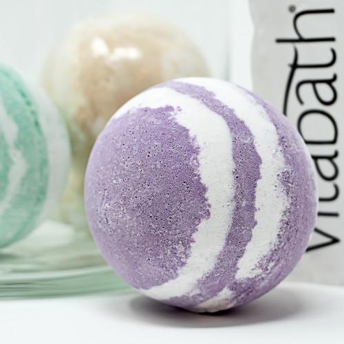 Lavender Chamomile Hand- Wrapped Foaming Bath Bomb 5.29 oz/150 g