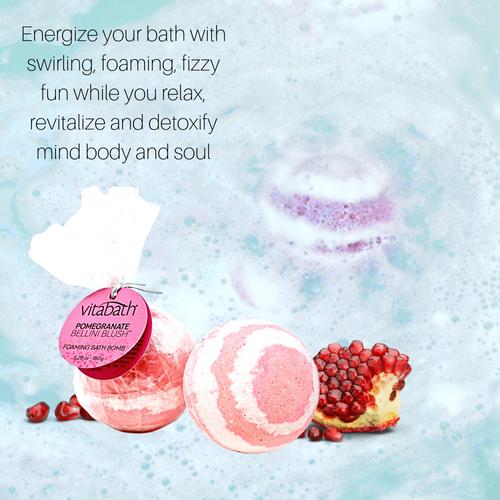 Pomegranate Bellini Blush™ Hand-Wrapped Foaming Bath Bomb 5.29 oz/150 g