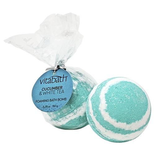 Cucumber & White Tea Hand-Wrapped Foaming Bath Bomb 5.29 oz/150 g