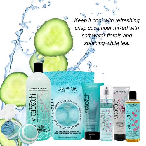 Cucumber & White Tea Bubble Bath 33.8 fl oz/1L