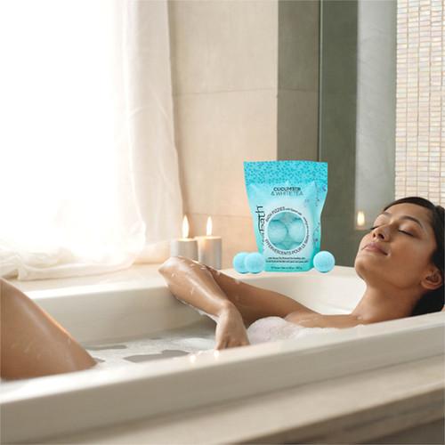 Cucumber & White Tea Bath Fizzies 10oz/283 g