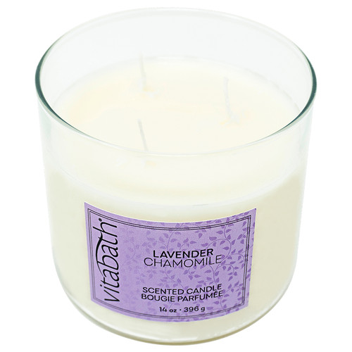 Lavender Chamomile 3-wick Filled Candle 14oz/396g