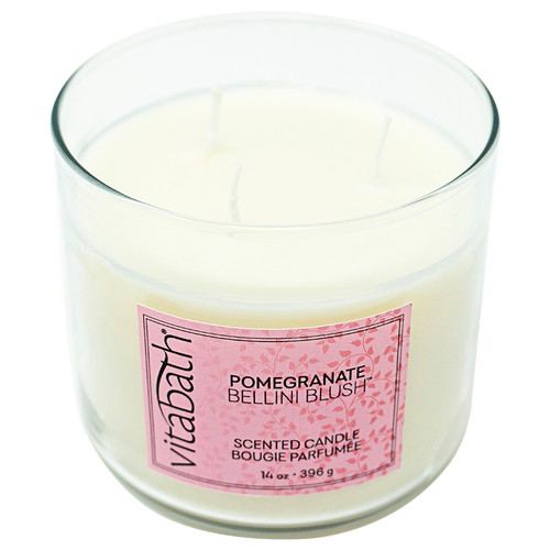 Pomegranate Bellini Blush™ 3-Wick Filled Candle 14oz/396g