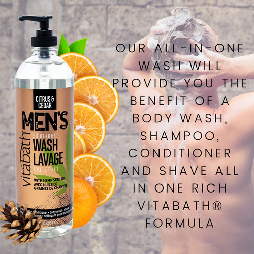 Citrus & Cedar Men's All-In-One Wash 26.4 fl oz/780 mL