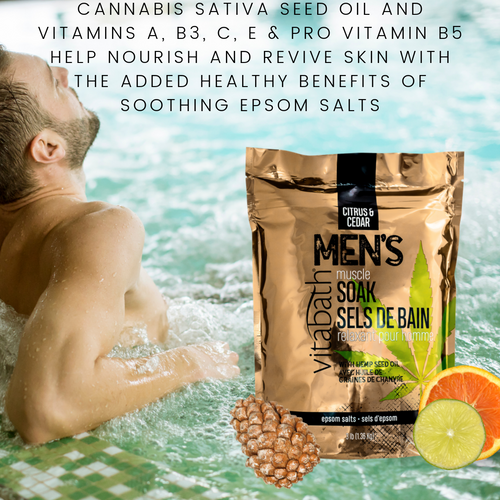 Citrus & Cedar Men's Muscle Soak 3 lb/1.36 Kg