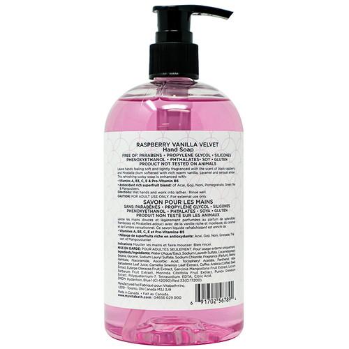 Raspberry Vanilla Velvet Hand Soap 16 fl oz/473 mL