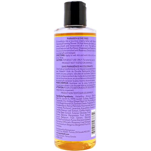 Lavender Chamomile Foaming Shower Oil 8 fl oz/236 mL