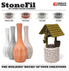 Samples of Formfutura StoneFil filament