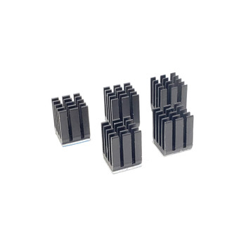Aluminum Heatsink - 9*9*12 - Black - 5 pack