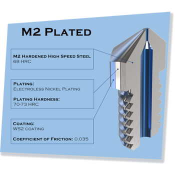 MK8 M2 HS  Hardened Steel 450C Nozzle - Micro Swiss - 0.40mm