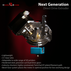 Micro Swiss Next Generation Direct Drive Extruder coming in 2022!