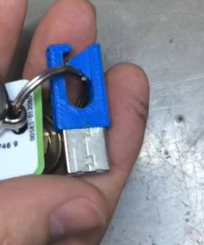 3D Print Key Ring Downloadable STL File