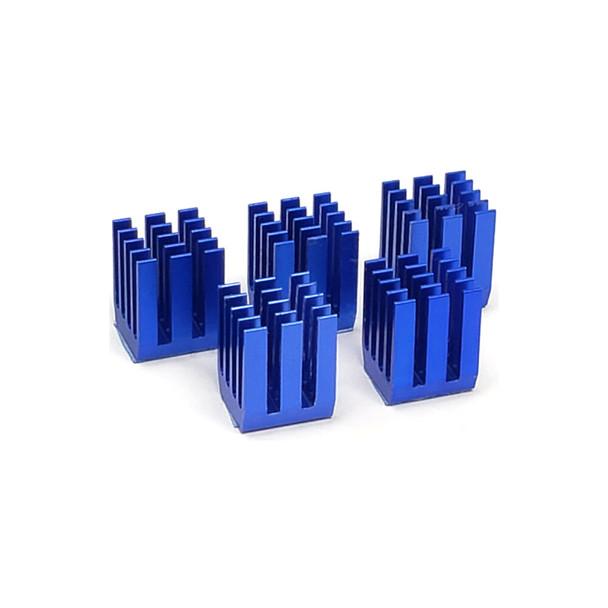 Aluminum Heatsink - 9*9*12 - Blue - 5 pack