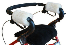 M111: Medical sheepskin Walker Handle Covers
