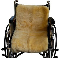 M128BS: Washable Sheepskin Wheelchair Pad