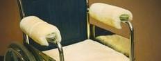 M125B: Sheepskin Wheelchair Arm Pads - Champagne/Beige