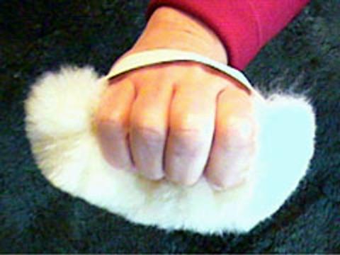 M115: Sheepskin Hand Posies