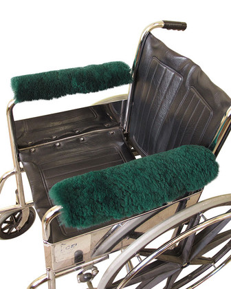 M125G: Sheepskin Wheelchair Arm Pads: