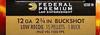 """250 Round Case Federal Premium Law Enforcement Tactical Buckshot LE132-1B - 12 GA 2-3/4"""" #1 Buck, Low Recoil, 15 Pellet, FliteControl LE1321B"""