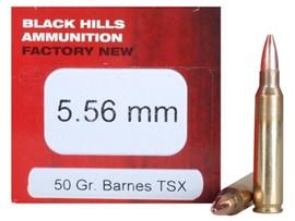 50 Round Box of Black Hills Ammunition Factory New D556N1 - 5.56 NATO 50 Grain Barnes TSX Triple-Shock X - Minimum 5 Boxes