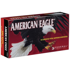 500 Rounds Federal American Eagle .380 ACP 95gr FMJ in 50 round boxes