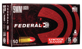 500 Round Case Federal American Eagle Syntech 9mm 115gr Total Syntech Jacket in 50 round boxes - Minimum 2 cases