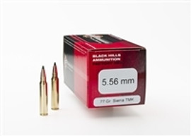 50 rounds Black Hills Ammunition Factory New D556N19 - 5.56 NATO 77 Grain Tipped MatchKing