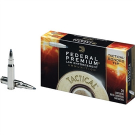 200 Round Case Federal Premium LE Tactical Bonded Ballistic Tip LE308TT2 - .308 Win 168gr TBBC Polymer Tip - Barrier Blind Police Sniper Round