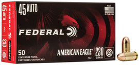 500 Rounds Federal American Eagle 45 ACP 230gr FMJ AE45A