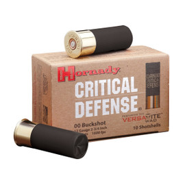 "200 Rounds Hornady Critical Defense Buckshot - 12 GA 2-3/4"" 00 Buck MPN 86240"