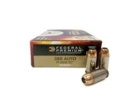 250 Rounds Federal Premium LE Tactical P380HST1 - 380 ACP 99gr HST Jacketed Hollow Point in 50 round boxes